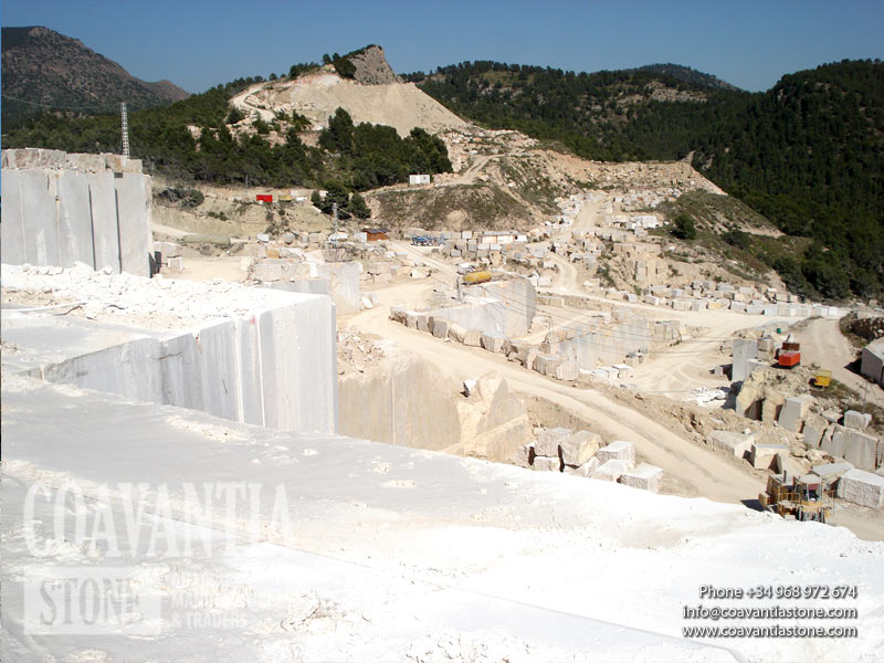 Natural enclave view from the top of the marble quarry